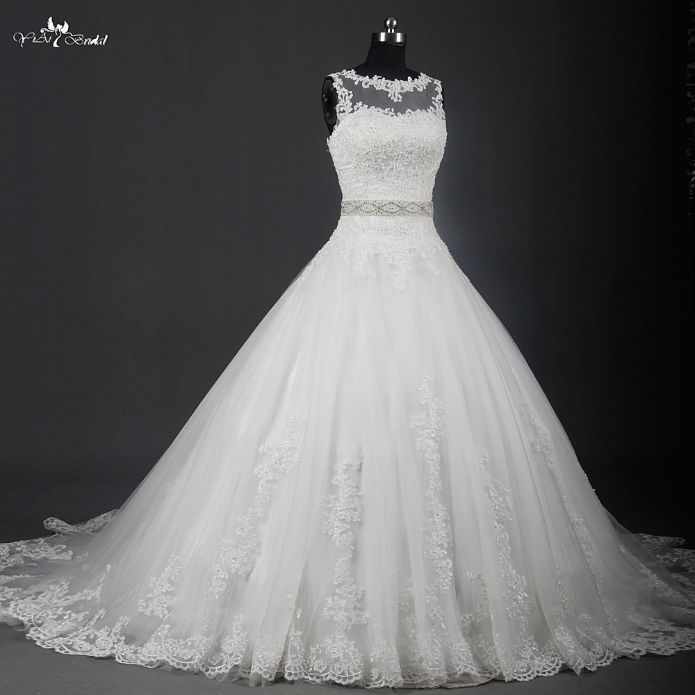Pictures Of Latest Wedding Gowns: Rsw951 Latest Bridal Wedding Gown Designs With Crystal