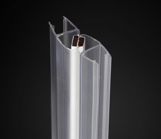Water Bathroom Glass Door Stop Seal Shower Room Magnetic