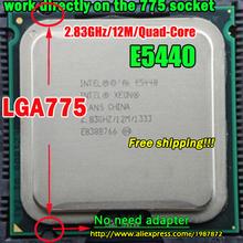 INTEL XEON E5440 2.83GHz/12M/1333Mhz/CPU equal to LGA775 Core 2 Quad Q9550 CPU,works on LGA775 mainboard no need adapter