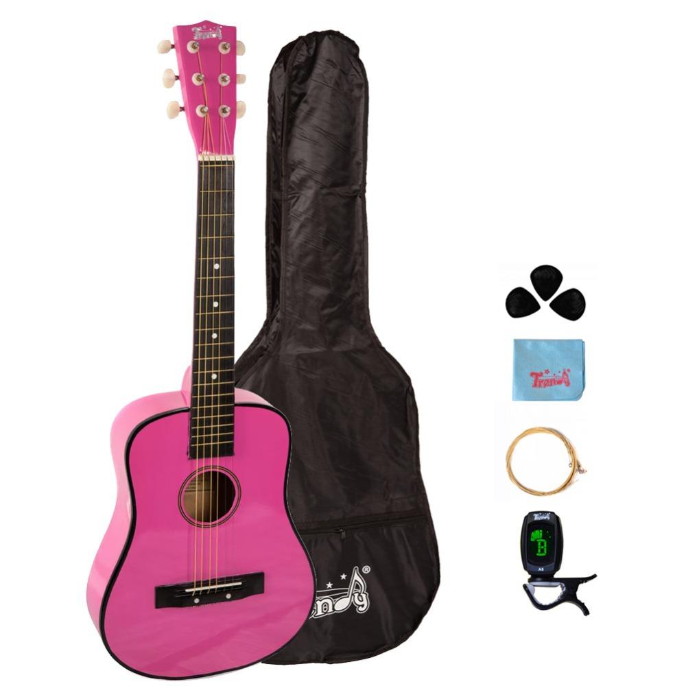trendy 30 inch 1 2 half size children beginner steel string acoustic guitar package basswood. Black Bedroom Furniture Sets. Home Design Ideas