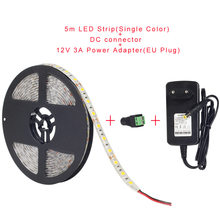 5050 RGB Светодиодные ленты Водонепроницаемый 5 м 300LED DC 12 В светодиодные полосы гибкий неон Клейкие ленты с пульта дистанционного управления RGB ...(Китай)