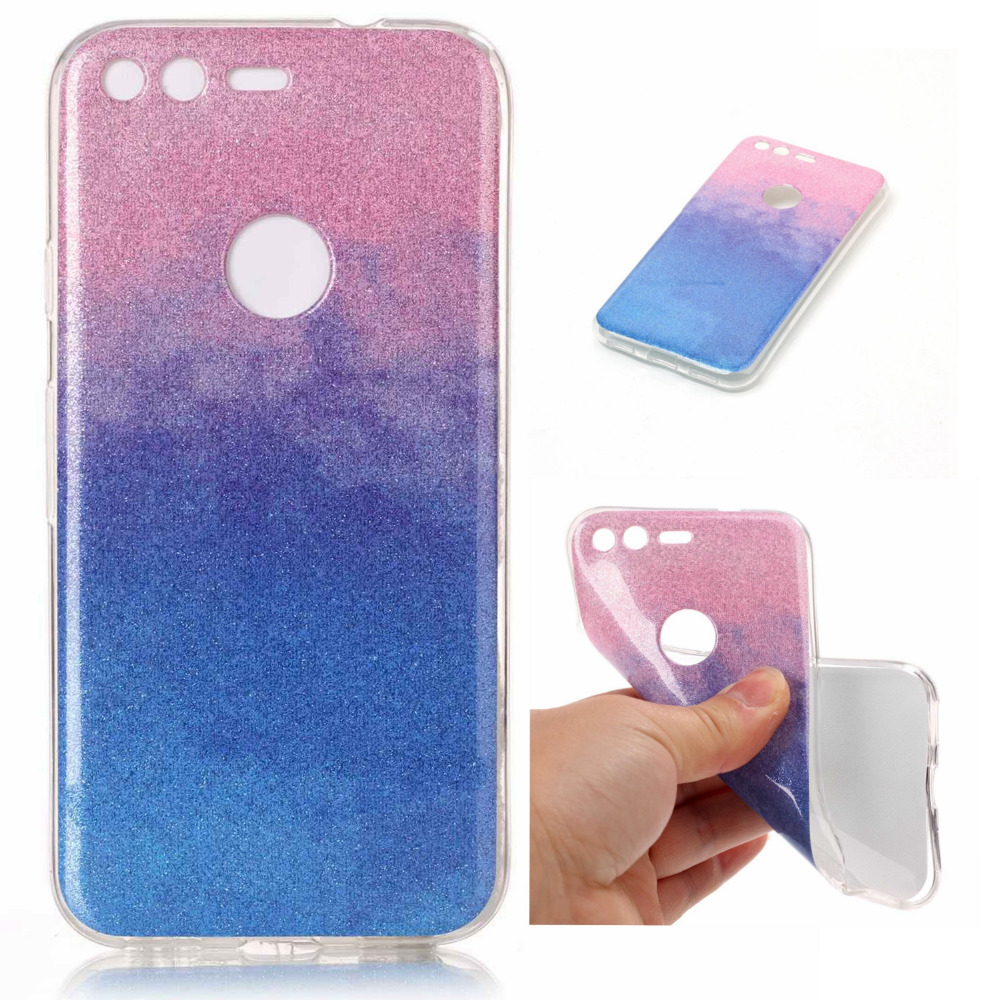 New Luxury Bling Powder Shine Soft TPU Silicone Cover Case For Google Pixel &Amp; Pixel XL Phone Coques