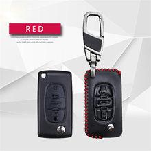 Натуральная кожа чехол для ключей от автомобиля из кожи для Citroen DS3 C1 C3 C5 C4 Xsara Picasso Berlingo C8 для peugeot стильный ключ кольцо чехол Аксессуары(China)
