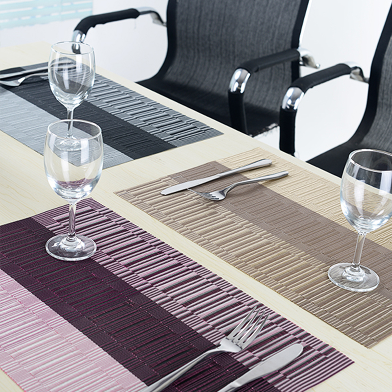 Set Of 8 Pvc Kitchen Dinning Bamboo Table Placemats For