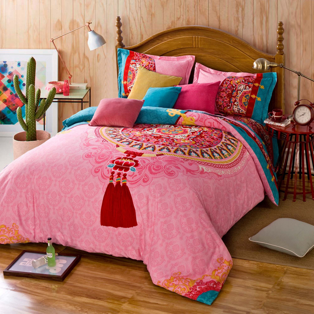 twin full queen size 100 cotton bohemian boho style beautiful percale sheets girls comforter. Black Bedroom Furniture Sets. Home Design Ideas