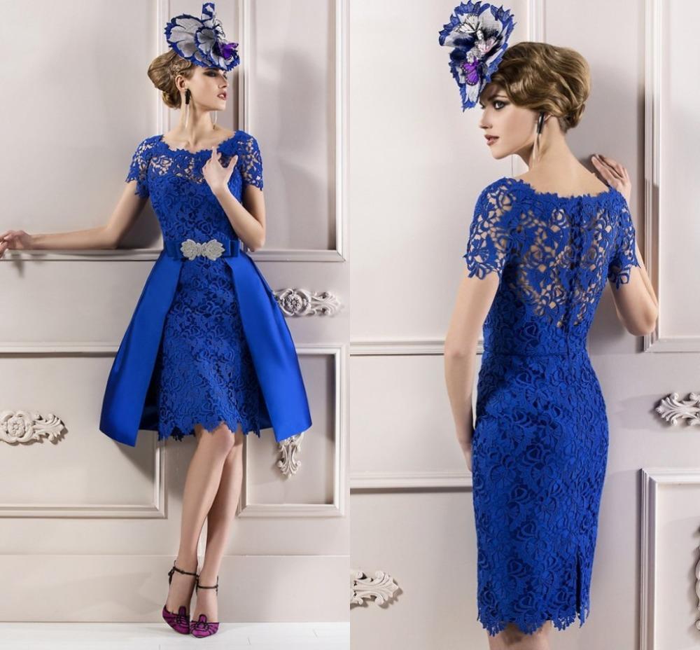 Elegant Lace Sleeve Short Wedding Dresses 2016 Scoop Neck: Popular Elegant Semi Formal Dresses-Buy Cheap Elegant Semi