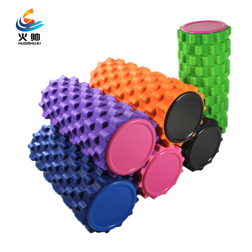 fitness pilates foam roller massage roller spike column depth yoga massage to relax the muscles. Black Bedroom Furniture Sets. Home Design Ideas