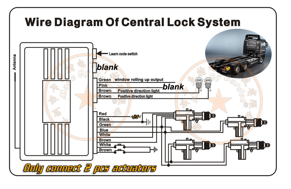 24v vehicle keyless remote central lock system 2 doors ... central locking system wiring diagram