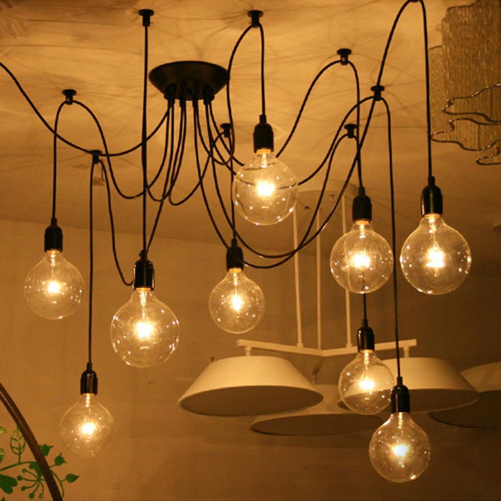 Mordern Nordic Retro Edison Bulb Light Chandelier Vintage