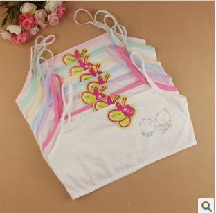100 cotton young girls training bra 10 15 years old children bras Condole belt vest kids