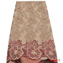 Высококачественная африканская швейцарская вуаль, кружевная ткань с камнями, Мягкая Вышивка, сухое кружево из швейцарской вуали, 2020 г., в шв...(Китай)