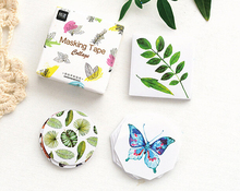 45Pcs/pack Natural Collections Decorative Set Diary Album Label Sticker DIY Stationery Stickers Escolar Papelaria H1303
