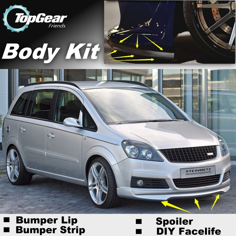bumper lip deflector lips for opel zafira a b c for. Black Bedroom Furniture Sets. Home Design Ideas