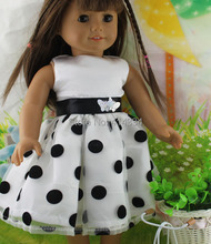 Free shipping hot 2014 new style Popular 18 American girl doll clothes dressb29