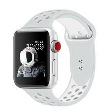 EIMO Correa для Apple Watch Band 42 мм 38 мм 44/40 мм iwatch Series 4 3 2 1 Nike спортивный ремешок силиконовый браслет наручный ремешок для часов(Китай)