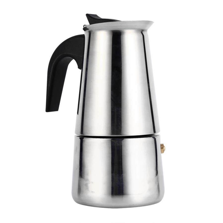 Мокко кофейник МОККА фильтр из нержавеющей стали итальянский эспрессо кофеварка Перколятор инструмент 100/200/300/450 мл Перколятор кофейник(Китай)