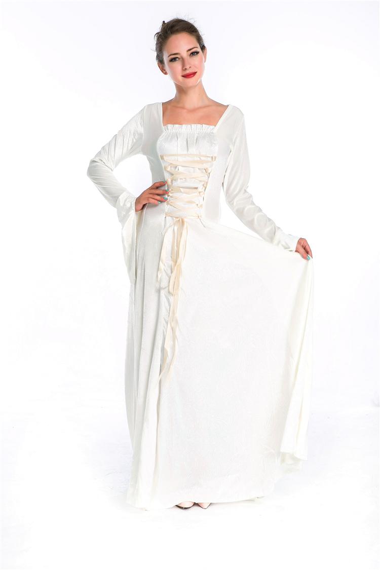 robe la mode robe medievale blanche pas cher. Black Bedroom Furniture Sets. Home Design Ideas