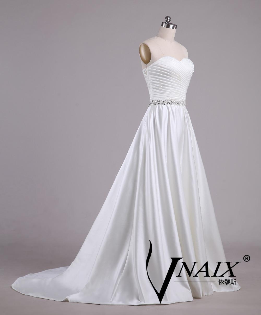 Simple And Elegant White Satin Sweetheart With Jacket: Aliexpress.com : Buy Vnaix WV609 Simple Elegant Sweetheart