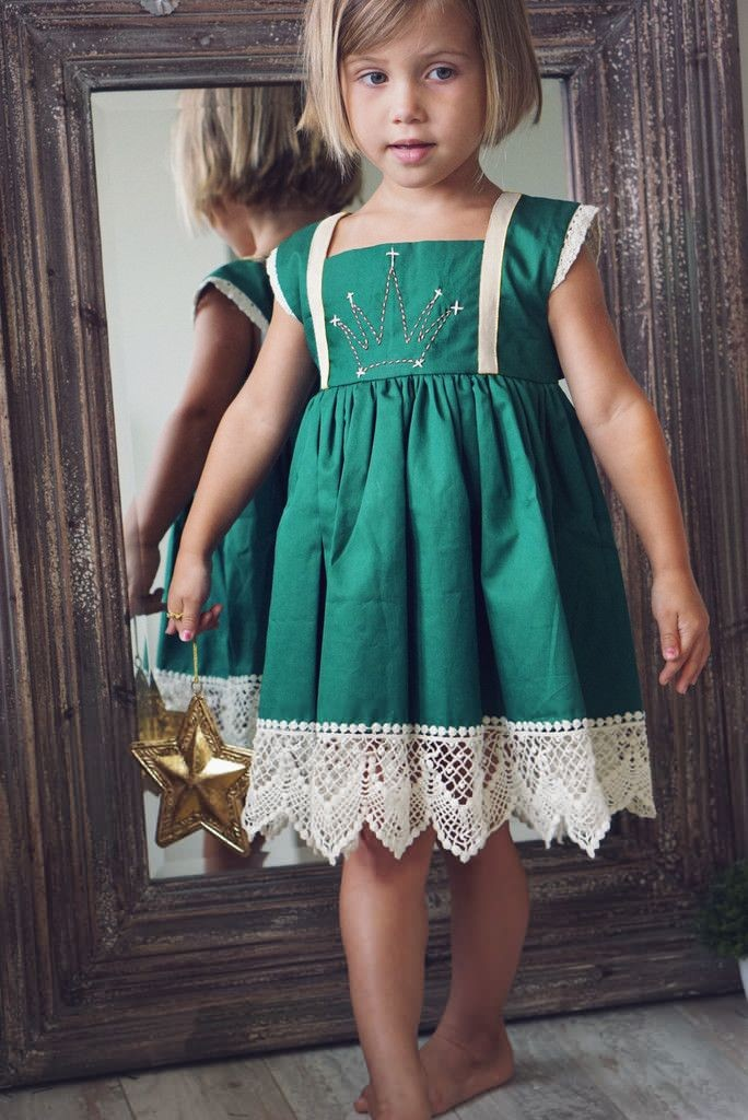 2015 Christmas Girls Dress Kids Clothes Party Cotton Lace Girl Dress Baby Girl Clothes for 2-7Y