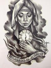 2016 NEW ARRIVAL 21X15 CM O choro mulher Tatuagem Temporária Etiquetas Da Arte Corporal Temporária À Prova D' Água #112