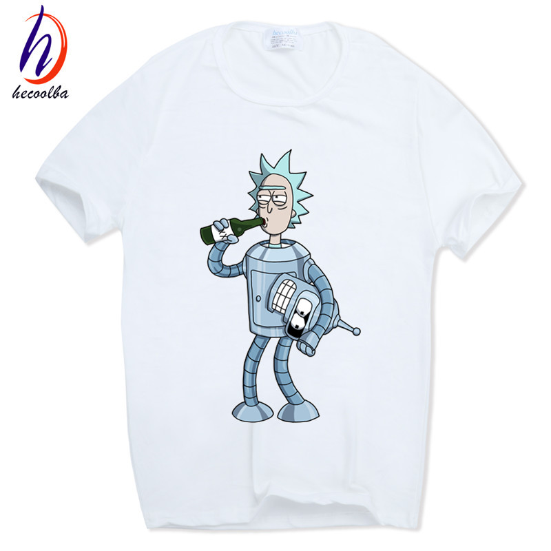 31d9d6bf802 Wholesale- Hecoolba 2017 Men's Funny Anime T-shirt Casual Short sleeve  O-Neck homme Summer White T shirt Swag Tshirt HCP134