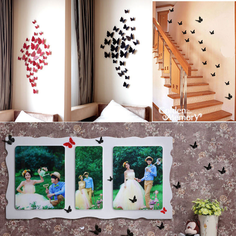 Butterfly Home Decor: Aliexpress.com : Buy 12 Pcs 3D Wall Sticker Stickers