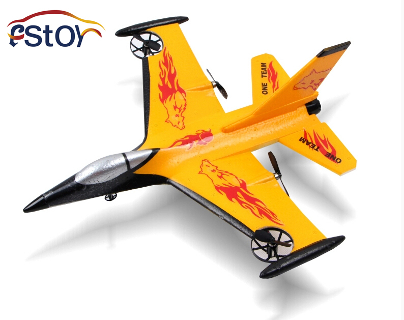 New Fixed wing channel 4 remote control plane remote control US F16 fighter glider EPP Shatter Resistant body RC plane toy