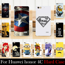 For Huawei Honor 4C Mobile Phone Case Hard Back Cover DIY Color Paitn Cellphone Shell Skin Despicable Me Shipping Free