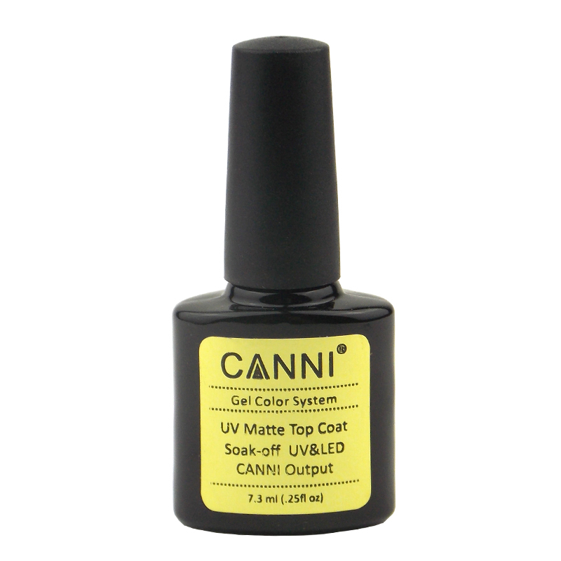 New 1Pcs CANNI Soak Off UV Matte Top Coat Gel Polish Nail Art Tips Dull Finish