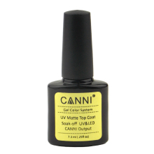New 1Pcs CANNI Soak Off UV Matte Top Coat Gel Polish Nail Art Tips Dull Finish TopCoat Gel