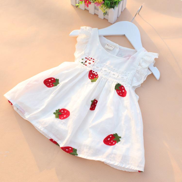 High Quality 0 2Y Newborn Baby Girl font b Dress b font Baby Summer Embroidery Flower