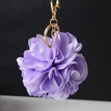 """Горячая окантовка роза цветок ткань кулон вечный цветок аксессуары для волос материал сумка брелок """"Цветок"""" K2231(Китай)"""