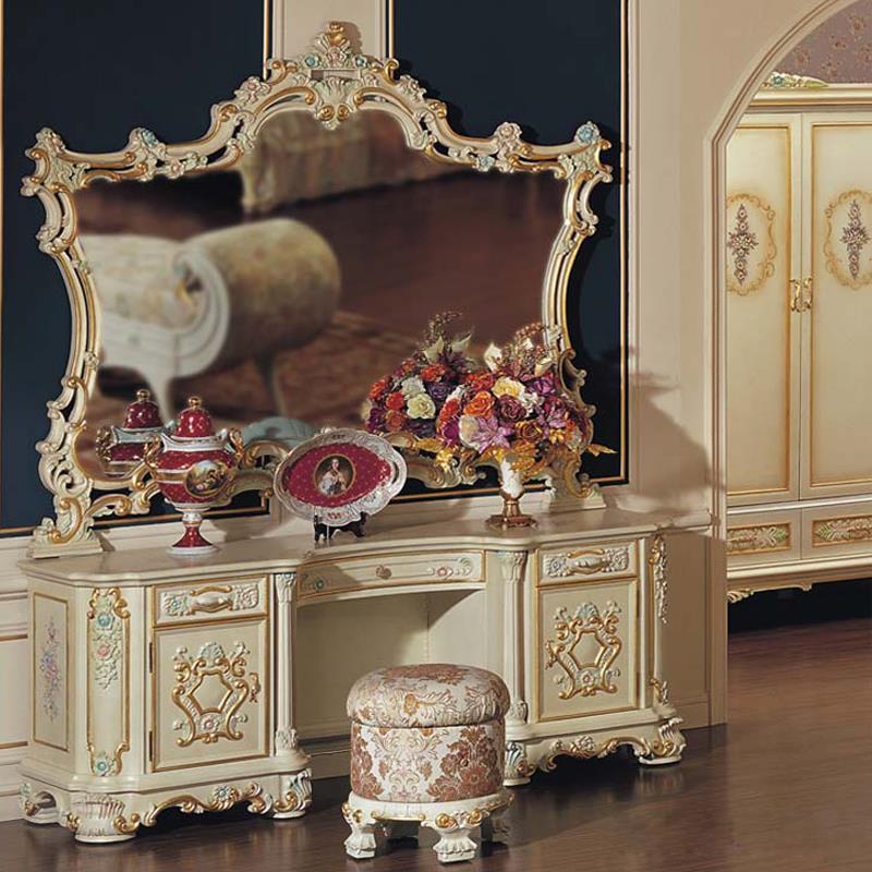 Baroque Luxury Makeup Mirror Dressing Table Mirror