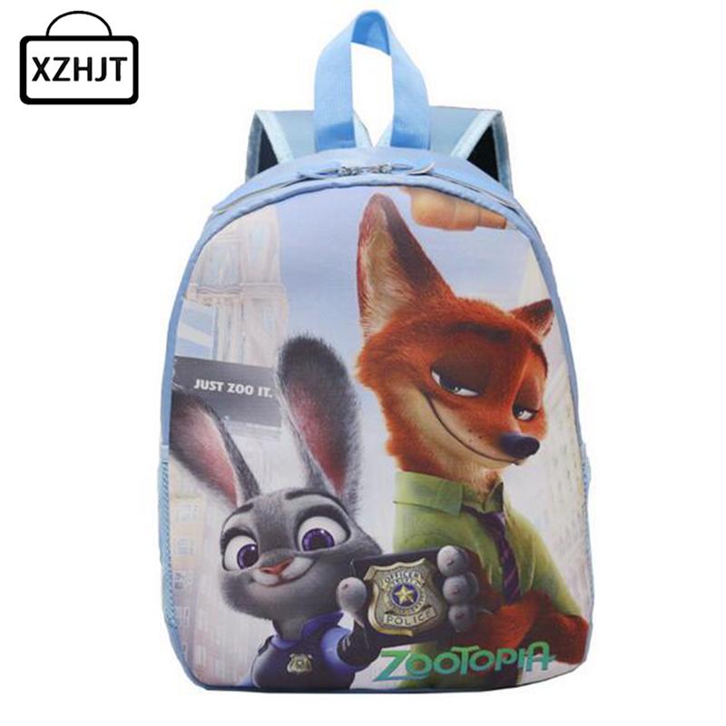 Hot Sale Cartoon Kids Zootopia School Bags Cute Animation Character Backpacks School Book Bag Children Lightening Schoolbag