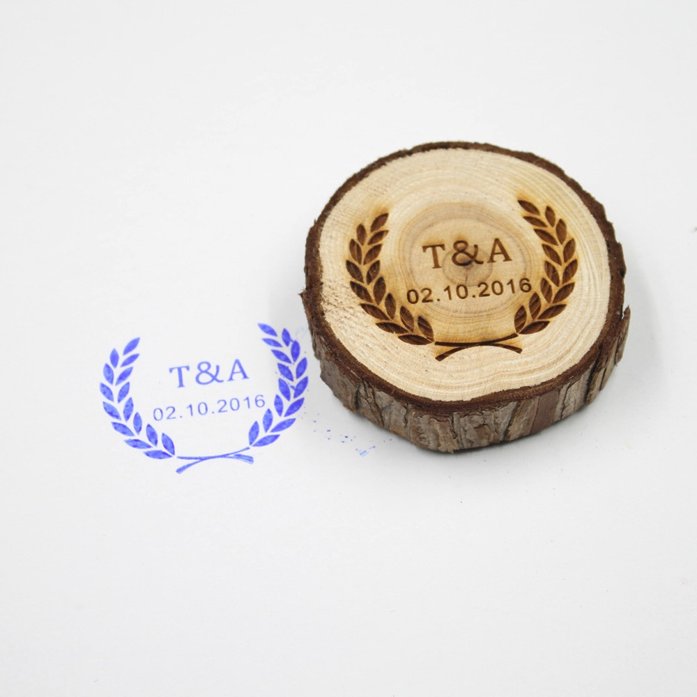 wholesale personalized wedding stamp custom wood rubber stamp