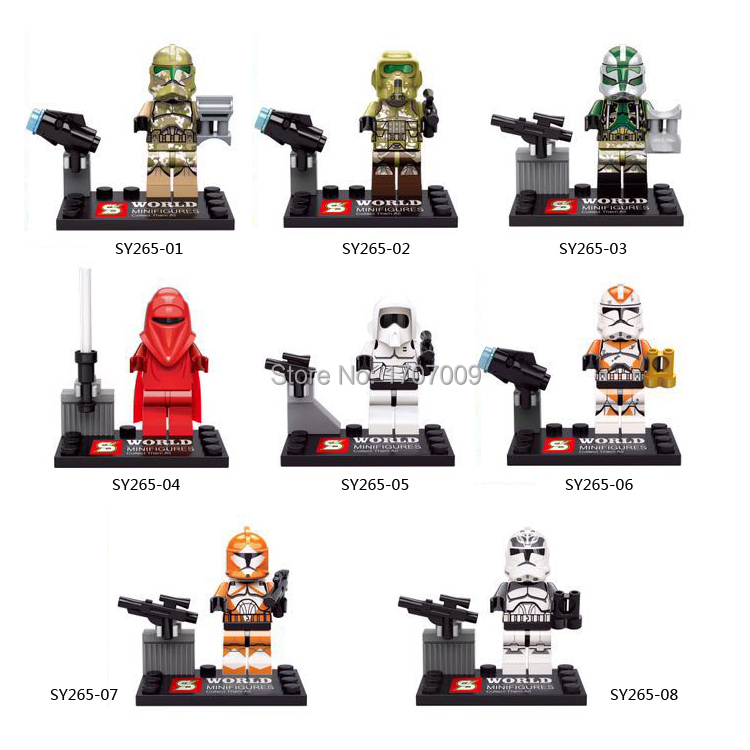SY265 8pcs/lot Star Wars race figures building blocks sets Minifigures  bricks claasic toys Compatible With Lego