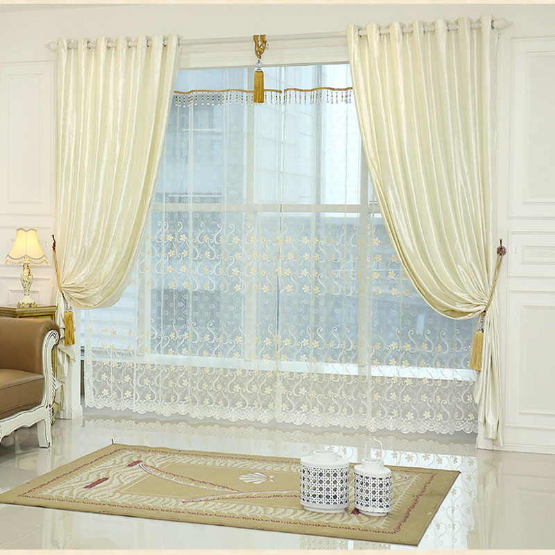 white window curtain living room bedroom luxury curtains curtain set retro cortinas estores room. Black Bedroom Furniture Sets. Home Design Ideas