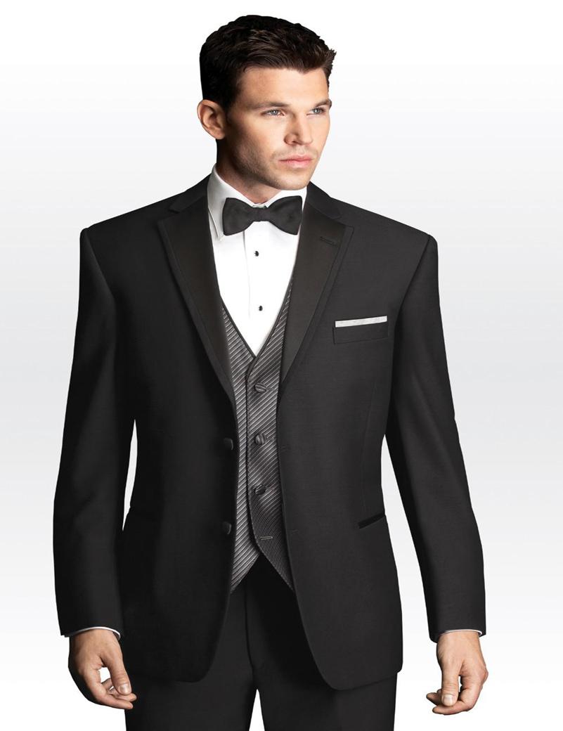 Custom Made New Styling Black Groom Tuxedos Men's Prom ...  Custom Made New...