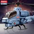Original SYMA S108G 3 5CH Mini Simulation Army RC Helicopters Cobra Choppers Military Toys for Kid