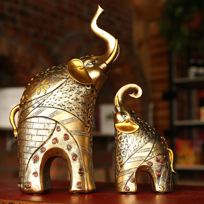 Elephant Home Decor: European-elephant-statue-Animal-ornaments-Home-decor-lucky