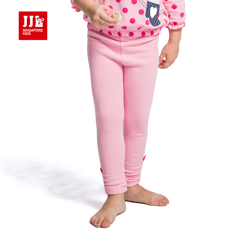 chirldren baby girls long bottoming clothing solid comfortable full pants free shipping regular legging trousers wiht