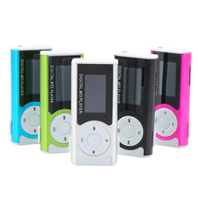 Unique Mini USB Clip MP3 Media Player LCD Screen Support 16GB Micro SD TF LED Light DX Speler 5WHM