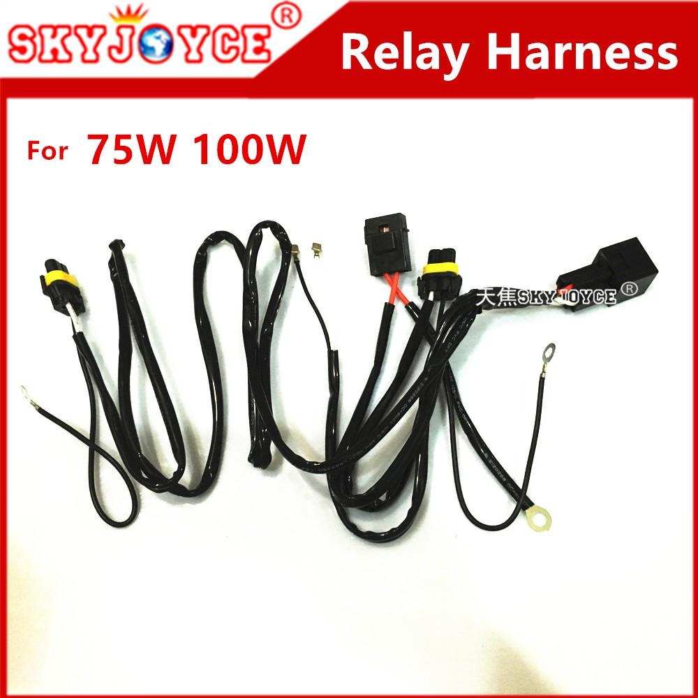 DC12V 40A HID xenon kit H7 75W HID relay harness H1 H11 H7 D2H 100W on