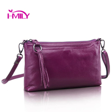 New first layer cow skin women messenger bag pure genuine leather ladies shoulder bags candy color real leather mini bag clutch