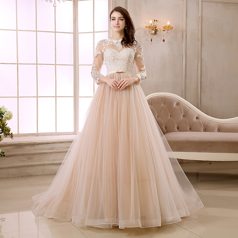 Champagne Color Wedding Dress Fashion Dresses