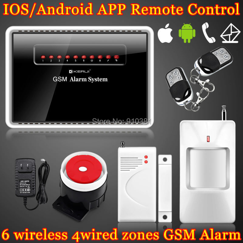 kerui ios android app controlled gsm mobil wireless wired home