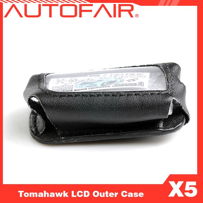 Бесплатная доставка жк пульт дистанционного управления кожаный чехол для двухсторонней автосигнализации TOMAHAWK X5 2-полосная автомобильная сигнализация жк пульт брелок чехол