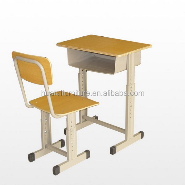 Cheap Student Desk And Chair Metal Wooden School Furniture