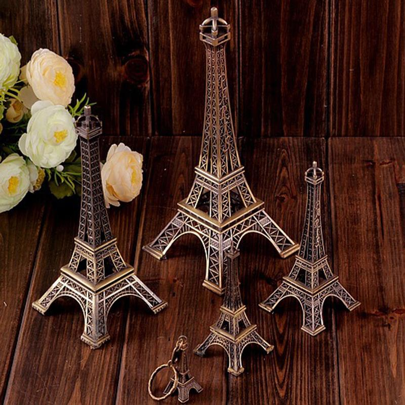 10cm Vintage Home Decor Torre Eiffel Metal Crafts Figurine Office Decoration Retro Bronze Paris Eiffel Tower Statue