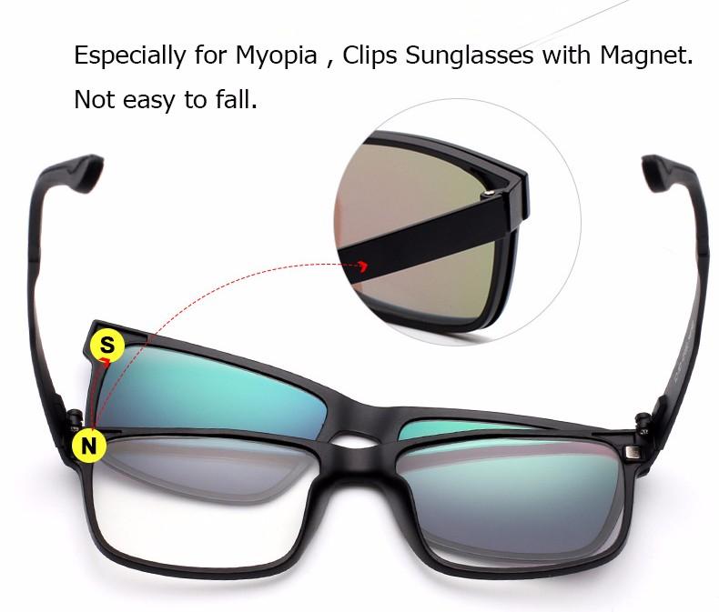 61916078ddb Wholesale-IVSTA Include Frame Polarized Clip On Sunglasses Men TR90 ...